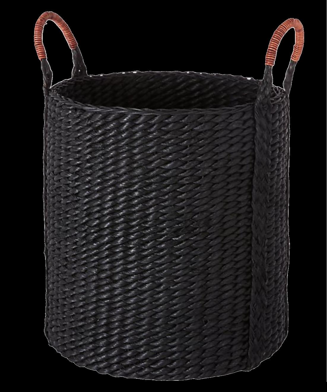 Black Woven Basket