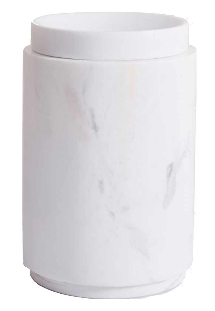 White Marble Canister