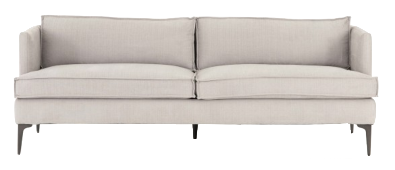 Easel Back Upholstered Sofa
