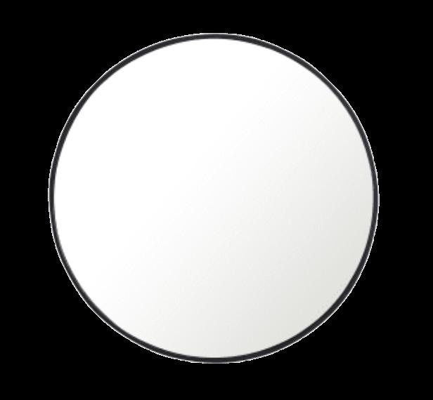 Pottery Barn Black Metal Framed Mirror