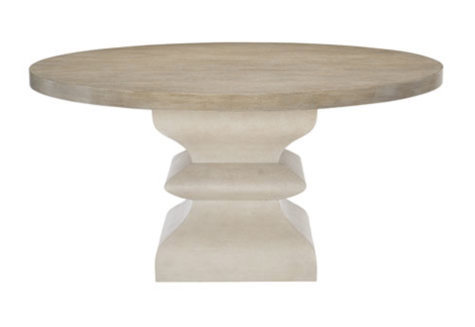 Beige Round Dining Table