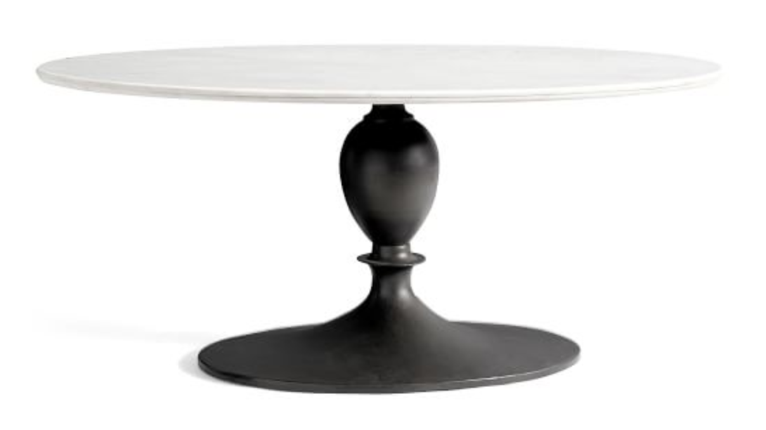 Marble Oval Dining Table