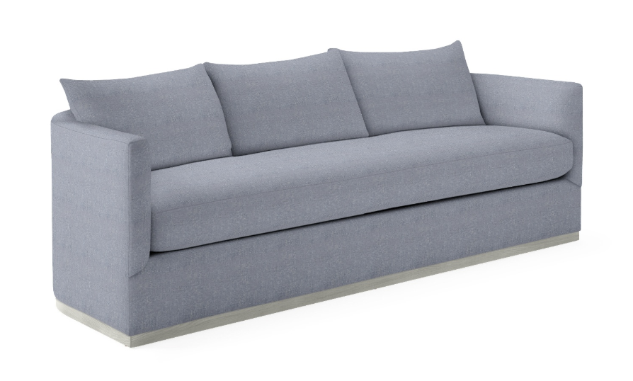 Light Blue Linen Sofa