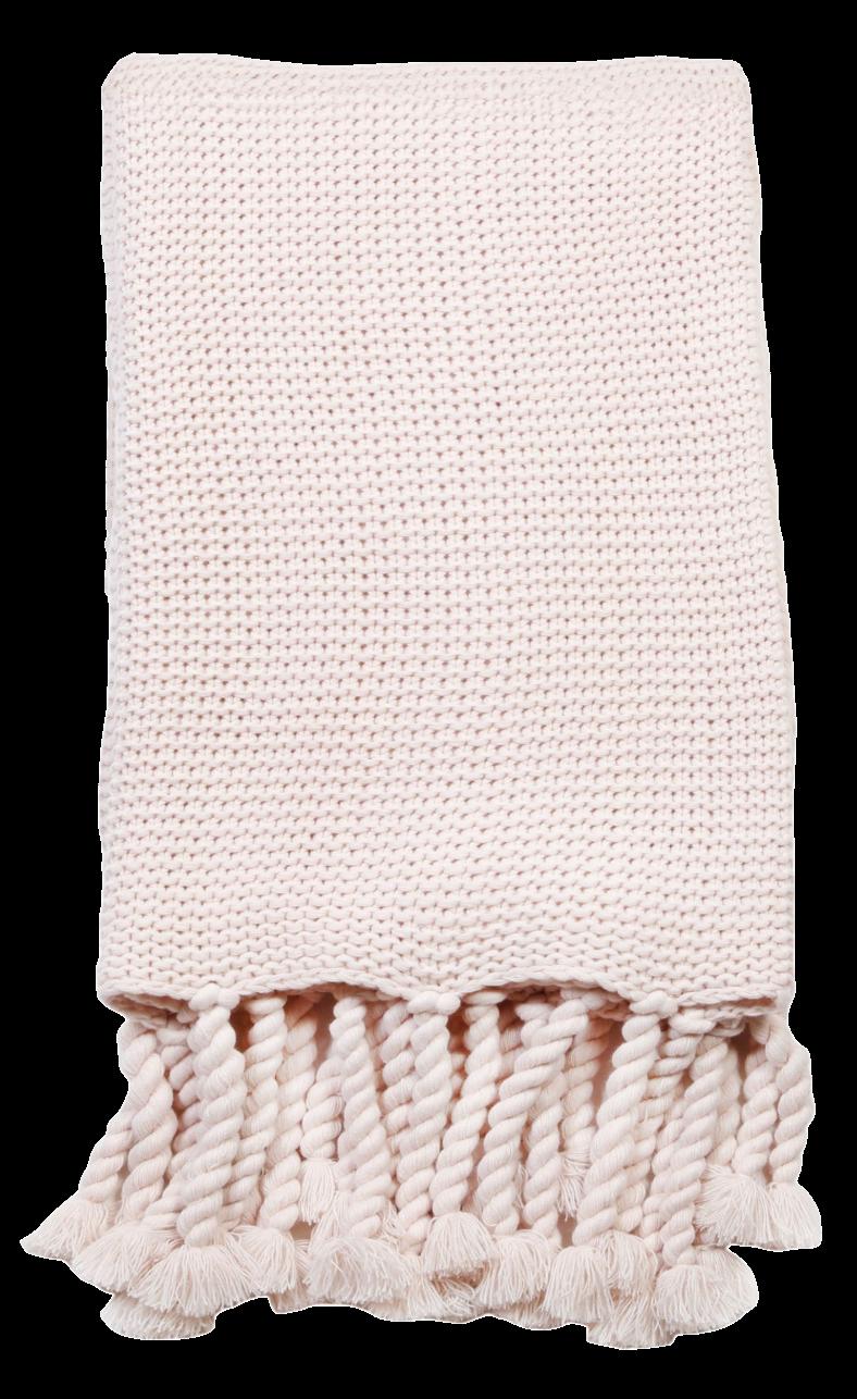 Light Pink Throw Blanket