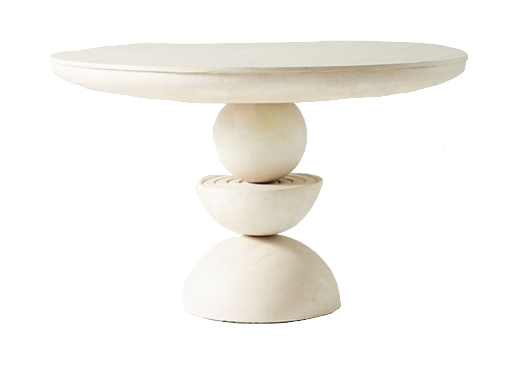 Sculptural Base Dining Table