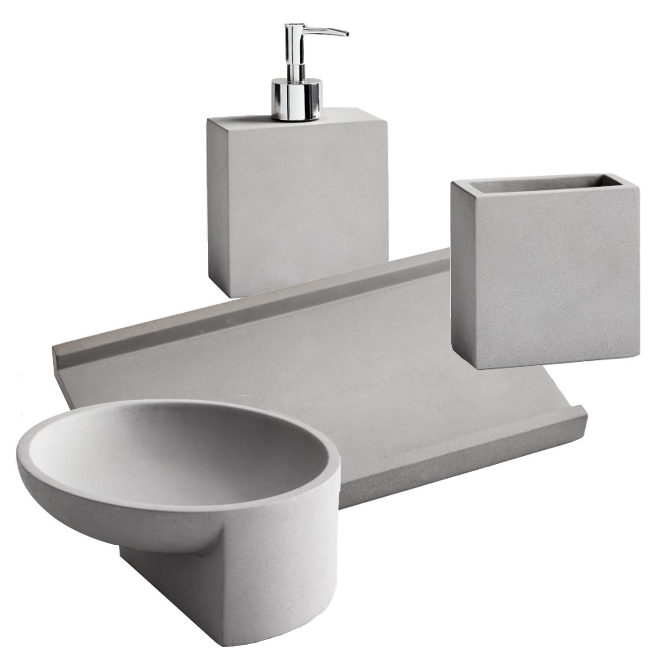 Concrete Bathroom Accessory Collection