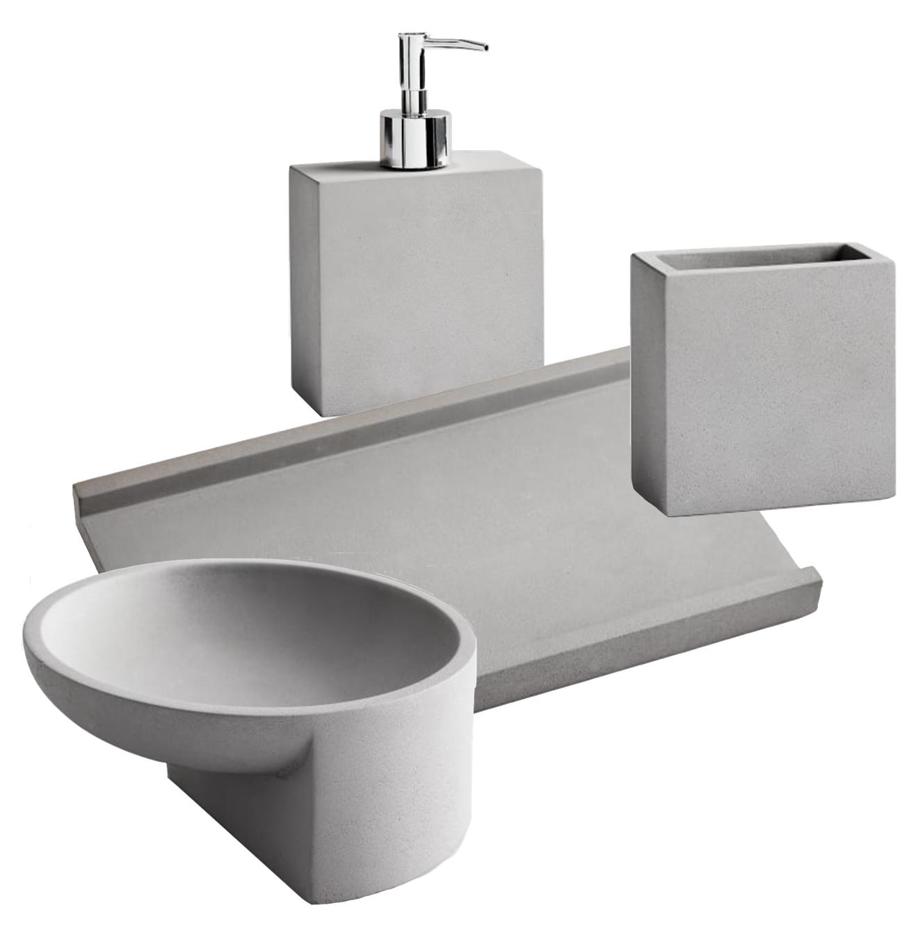 Concrete Bathroom Accessory Collection