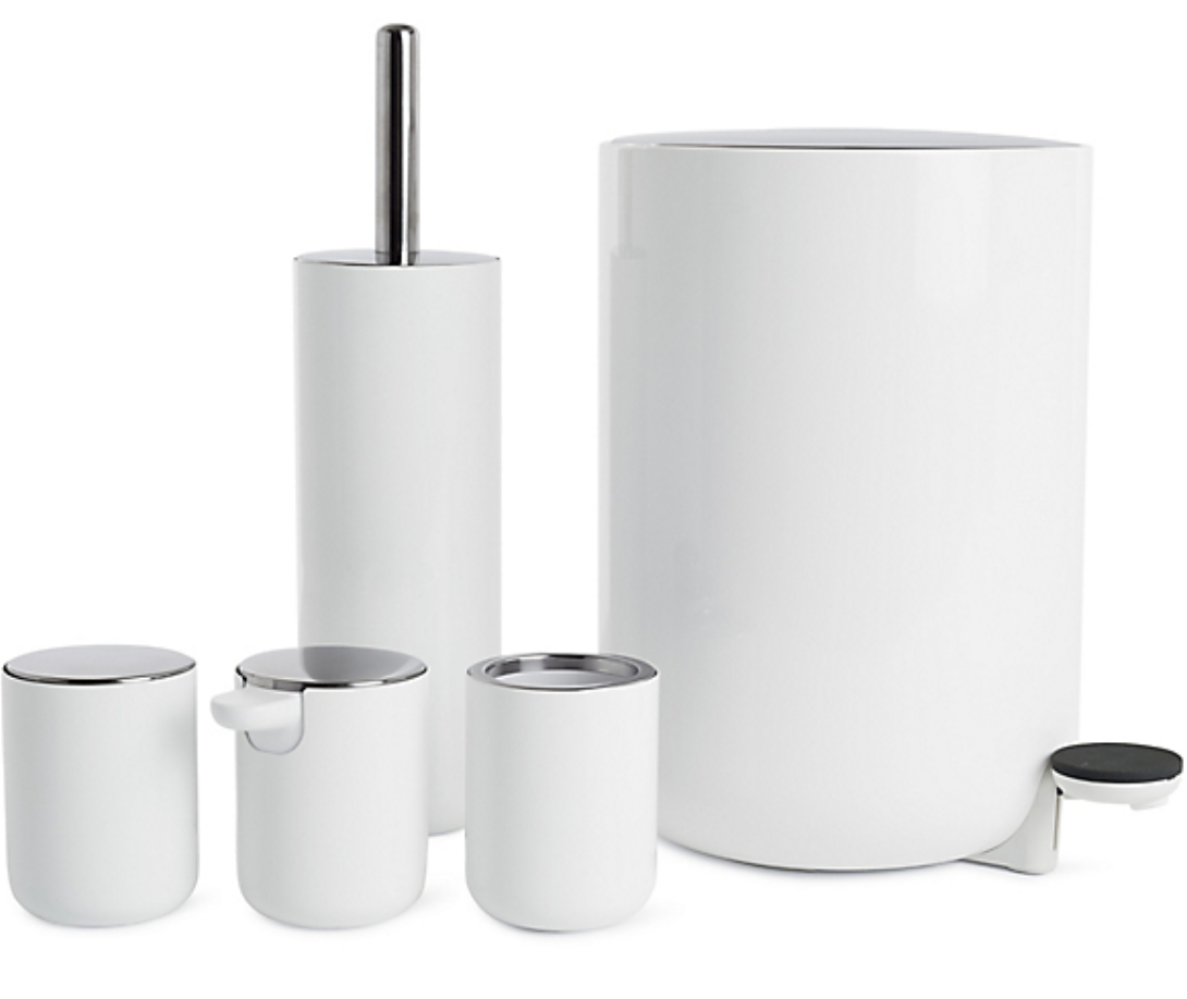 White Bathroom Accessory Collection