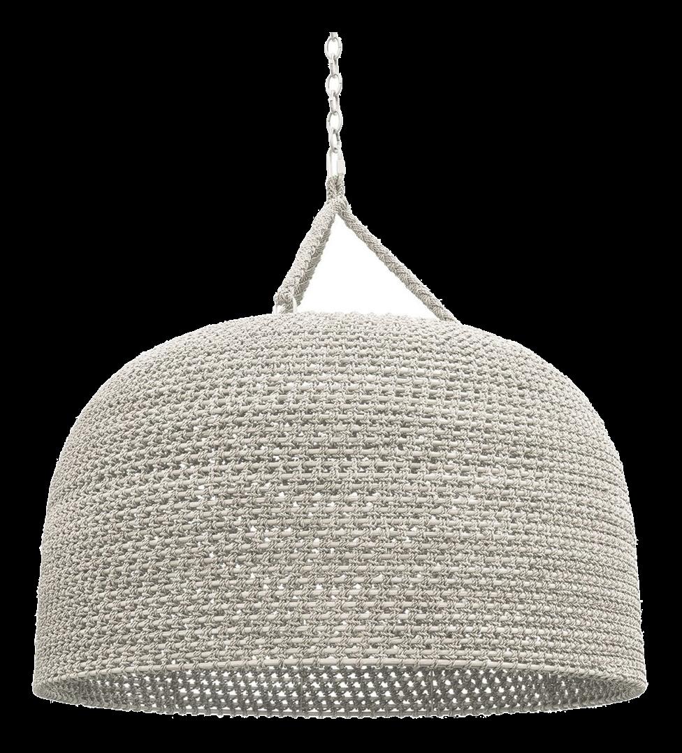 White Drum Dome Pendant