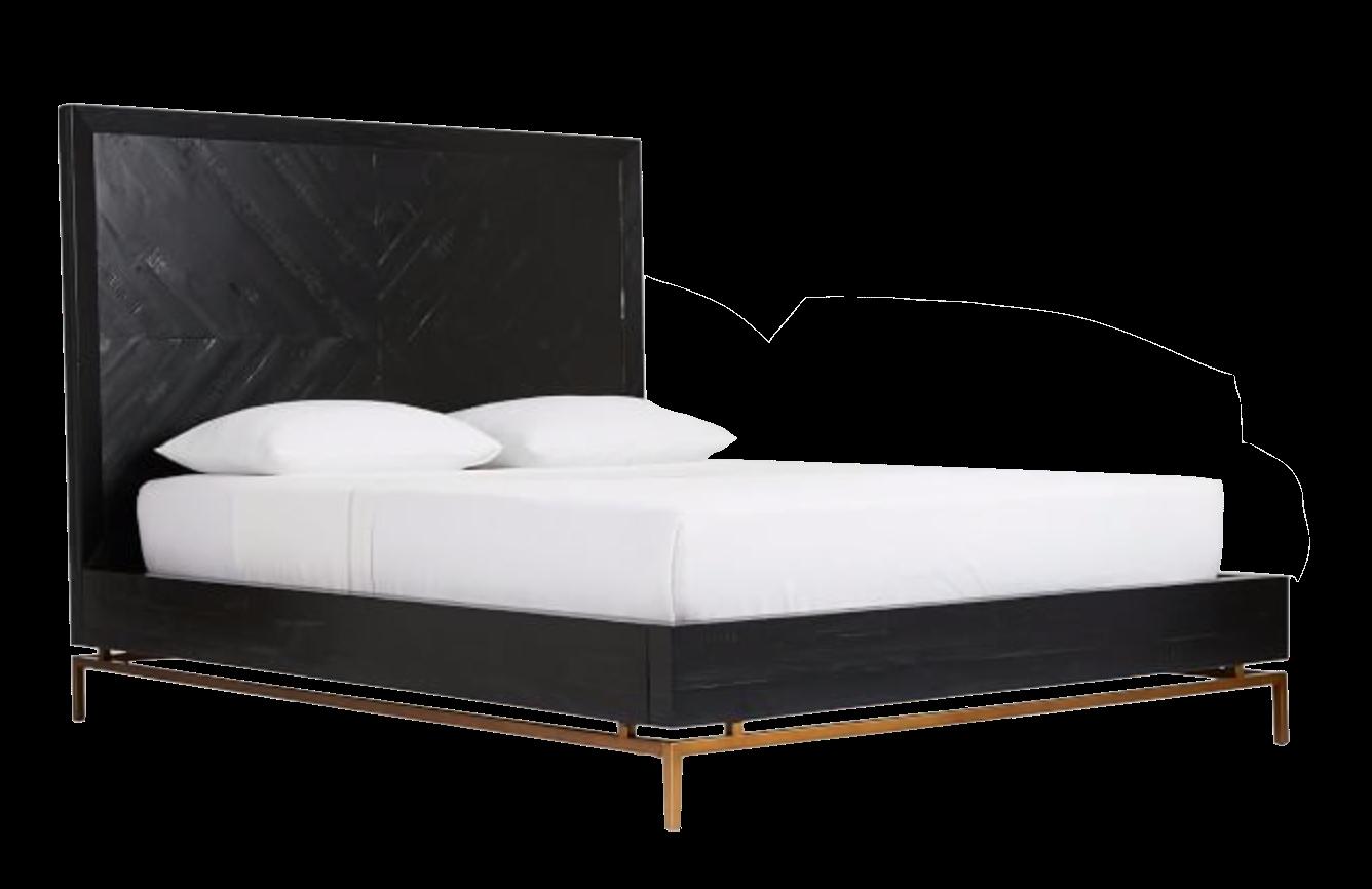 Chevron Wood Bed Frame