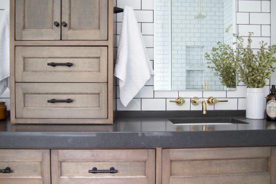 A Bellevue, Tennessee Interior Design Home Remodel Charcoal Grey Quartz Countertops