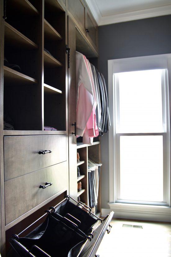 A Bellevue, Tennessee Interior Design Home Remodel Master Closet Storage