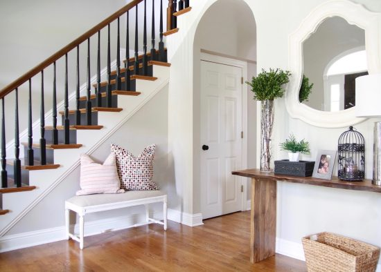 A Brentwood, Tennessee Interior Design Home Entry with Stairs