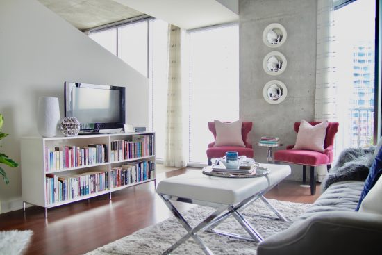 A Downtown Nashville, Tennessee Interior Design Condo Living Room