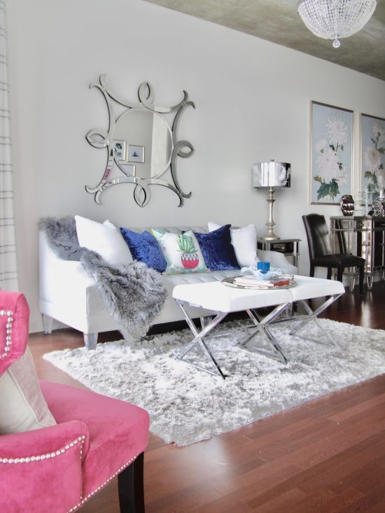 A Downtown Nashville, Tennessee Interior Design Condo with Glam Decor