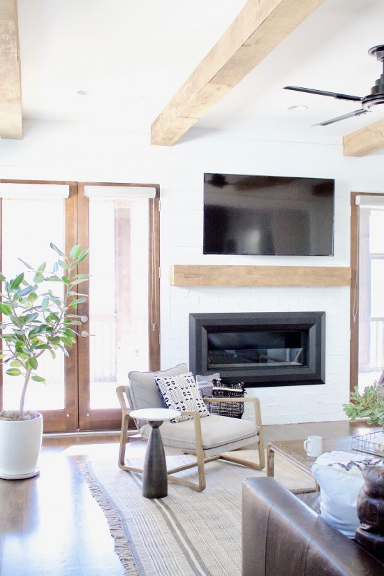 A Green Hills, Tennessee Interior Design New Home Living Room Fireplace