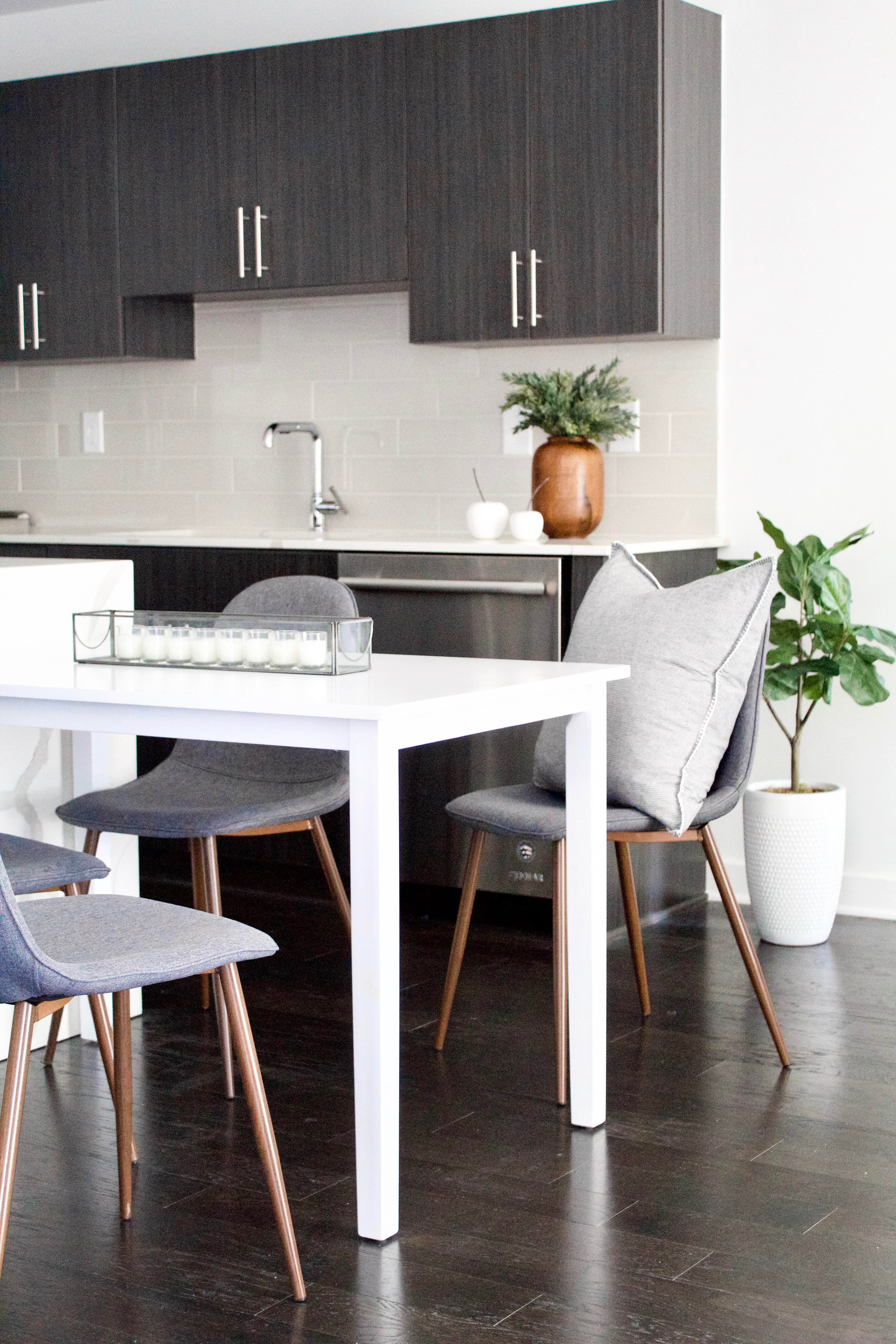 A Nashville, Tennessee Interior Design New Condo Eat-In Kitchen