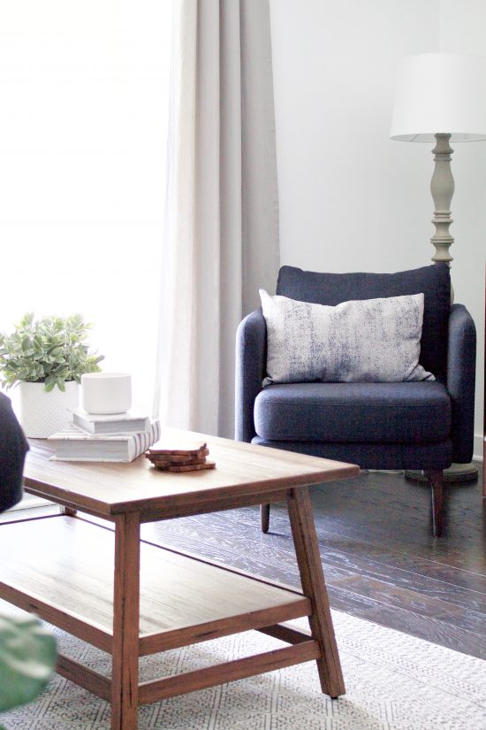 A Nashville, Tennessee Interior Design New Condo with Indigo Armchair