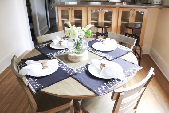 A Sylvan Park, Tennessee Interior Design Home Dining Table Setting