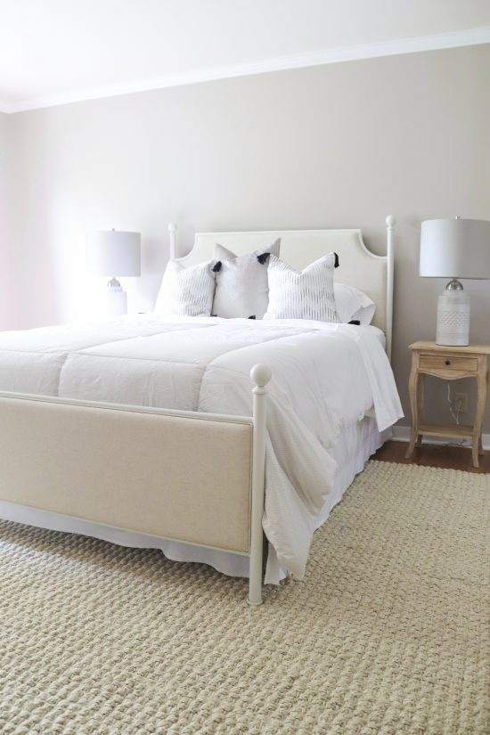 A Sylvan Park, Tennessee Interior Design Home Guest Room Bed