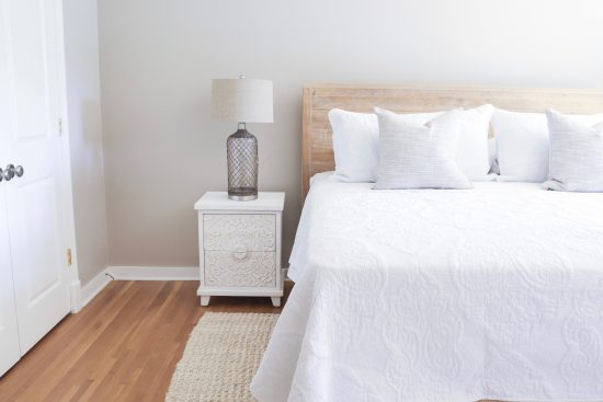 A Sylvan Park, Tennessee Interior Design Home Guest Room Headboard