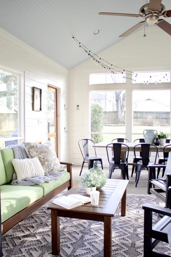 A Sylvan Park, Tennessee Interior Design Home Sunroom