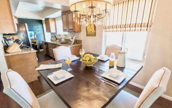 A Toluca Lake, California Interior Design Condo Eat-In Kitchen