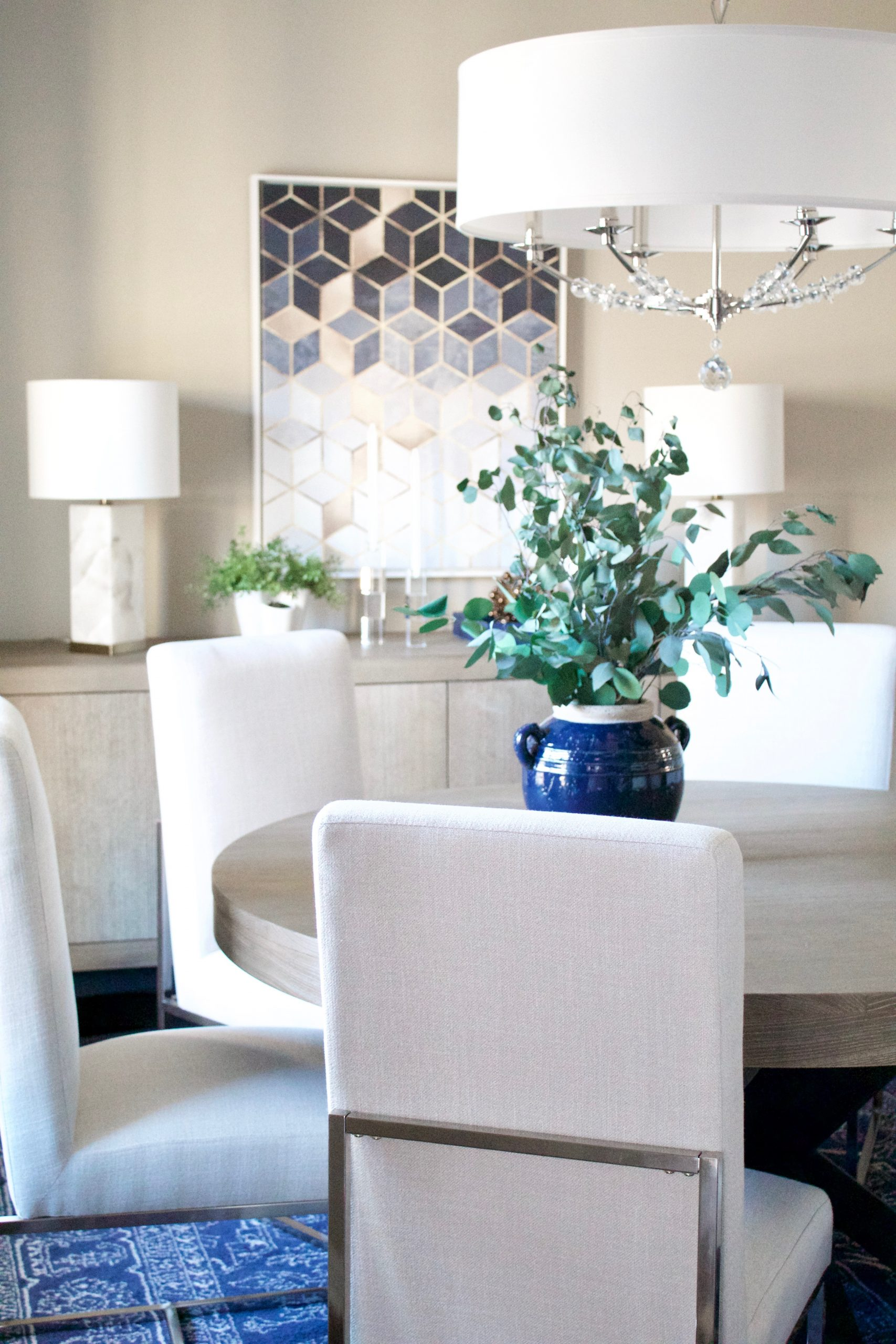 Transitional Glam Dining Room