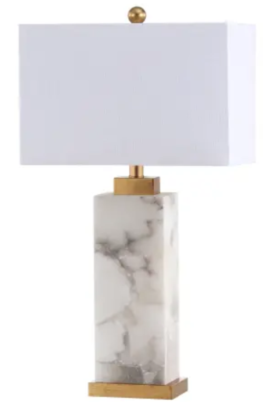 Alabaster and Gold Table Lamp