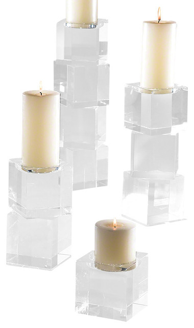 Square Glass Candlestick