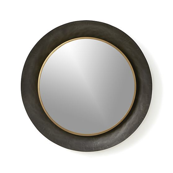 Crate&Barrel Dish Round Wall Mirror