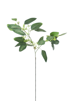 AFloral Artificial Seeded Eucalyptus Spray in Green Burgundy – 19″ Tall