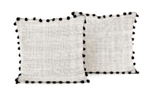 France and Son Four Hands Black Fringe Trim Pillows
