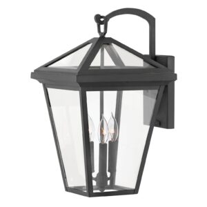 Overstock Hinkley Alford place 4-Light Outdoor Wall Mount in Museum Black