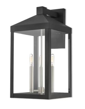 1800Lighting Nyack 21 Inch Tall 3 Light Outdoor Wall Light by Livex Lighting