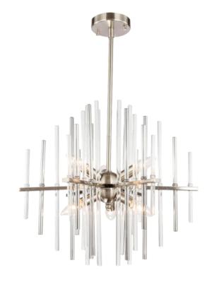 Overstock Woodbridge Lighting 20116 Spires 6-light Chandelier – Satin Nickel