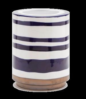 Belle and June Belda Blue and White Ceramic Stool