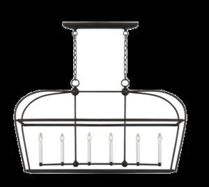 1StopLighting Generation Lighting – CC1216SMS – Stonington – 6 Light Linear Lantern