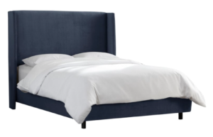 One Kings Lane Kelly Wingback Bed, Midnight Blue