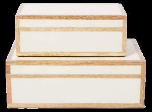 Target 8″ x 5″ Wood Edge Trim with Resin Inlay Decorative Box Ivory – Threshold™ designed with Studio McGee