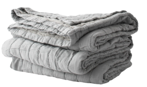 Schoolhouse Channeled Cotton Quilt – Gray