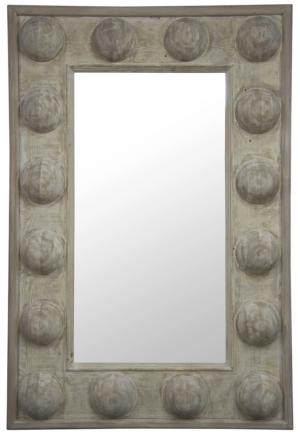 Burke Decor Reclaimed Lumber Boulder Mirror