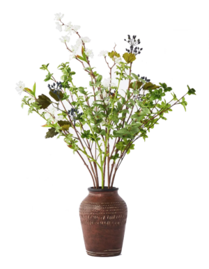 Target 24″ x 16″ Artificial Gypsophila Blueberry Arrangement in Ceramic Pot – Threshold™ designed with Studio McGee