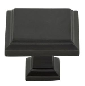 Build Atlas Homewares Sutton Place 1-1/4 Inch Square Cabinet Knob Modern Bronze