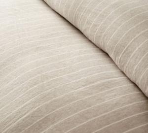 Pottery Barn Belgian Flax Linen Striped Duvet Cover & Shams – Flax