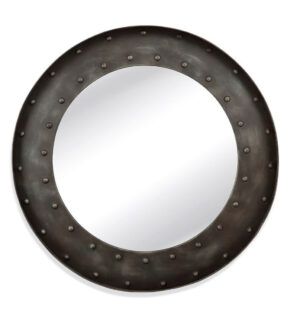 Pottery Barn Chelsea Round Metal Wall Mirror 41″
