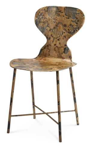 Horchow Jamie Young McCallan Metal Chair in Acid Washed Metal