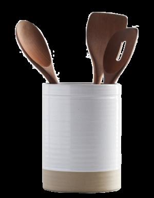 Pottery Barn Quinn Stoneware Crock Utensil Holder
