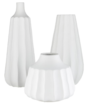 Overstock Telesco Modern Ceramic Bud Shaped Vase Set (3 pieces)