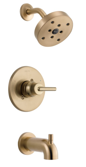 Build.com Delta Delta Trinsic Monitor 14 Series Single Function Pressure Balanced Tub and Shower – Less Rough-In Valve